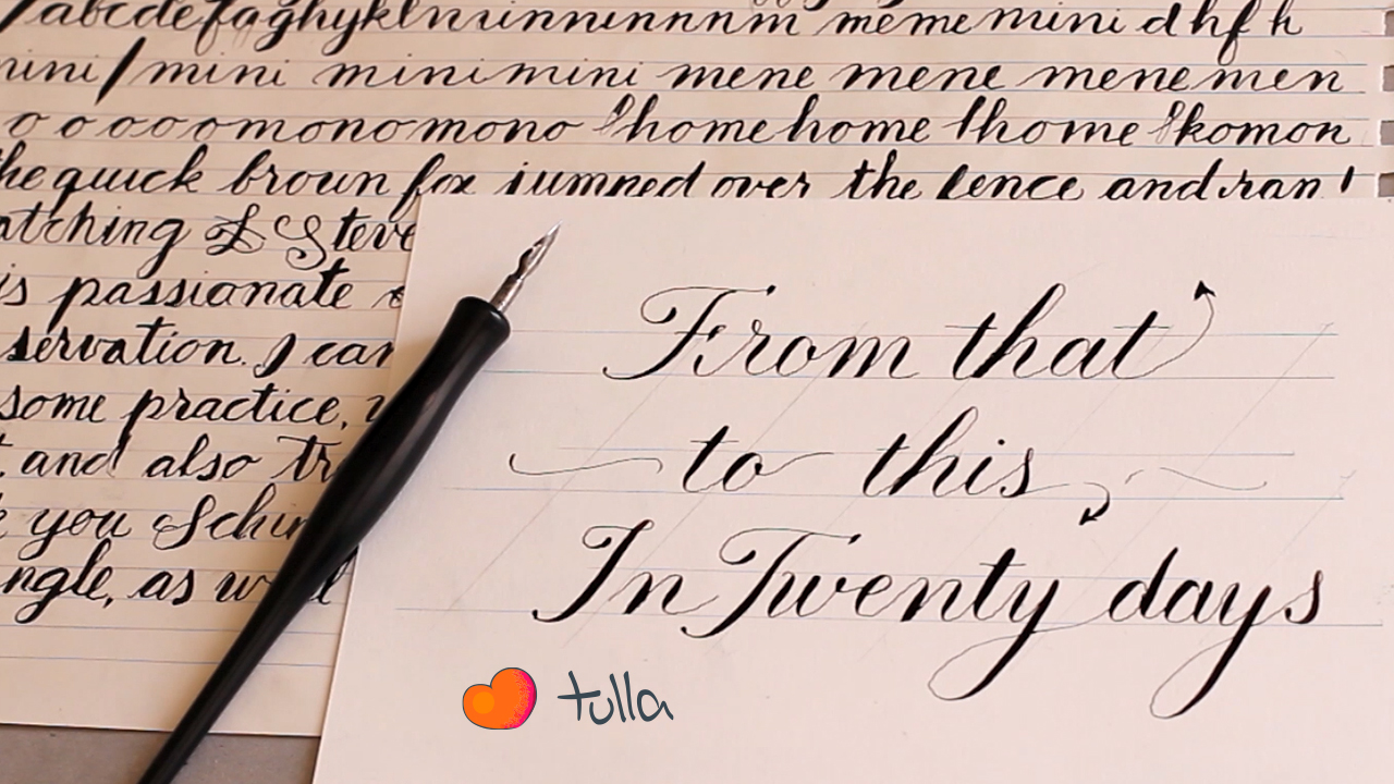 Learning Copperplate: My Progress in 20 Days