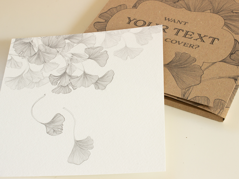Ginkgo leaves: Coloring cards box set