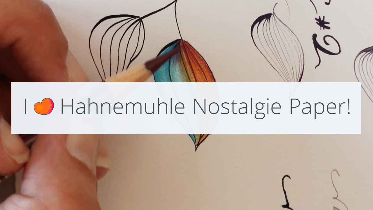 Lovely smooth paper: Hahnemuhle Nostalgie