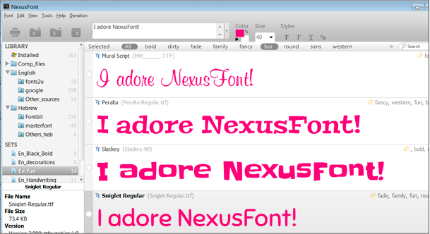 NexusFont review: a wonderful tool for sorting your fonts