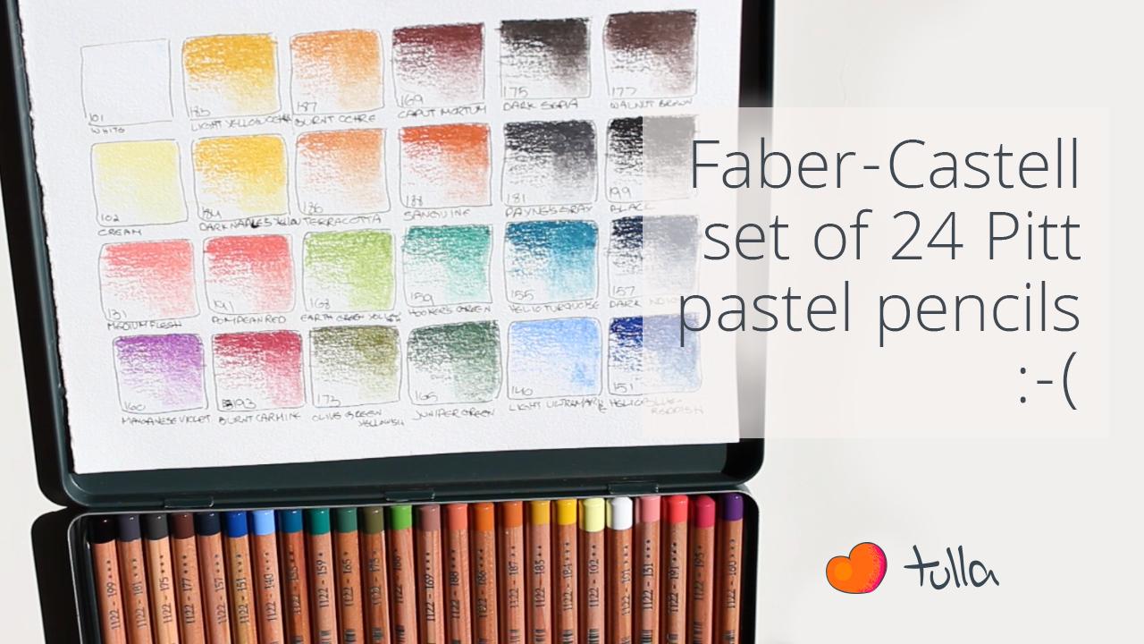 Faber Castell 24 Pastel Pencils: Color range