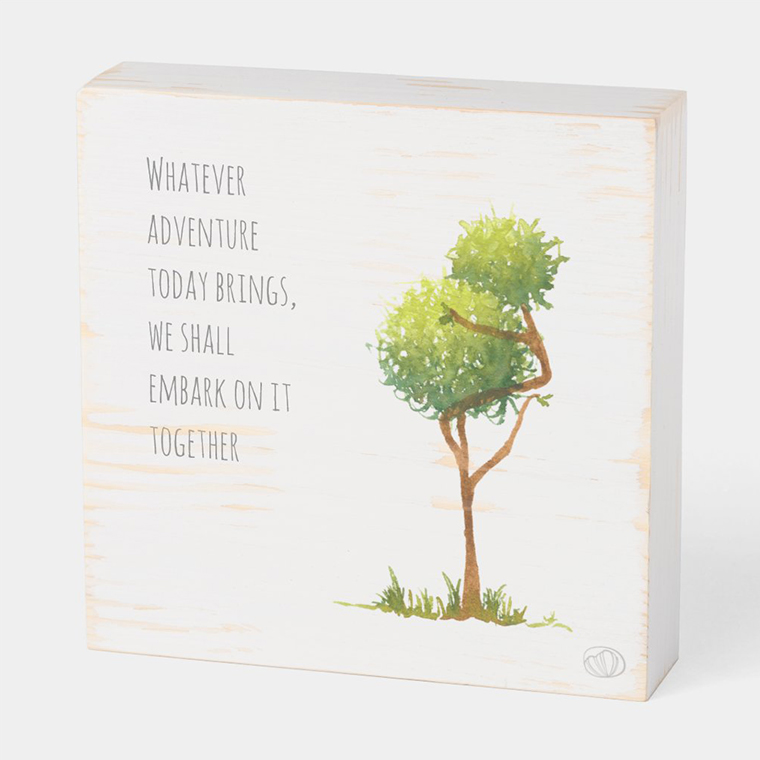 Wood box: Going on adventure (Scribble trees collection)