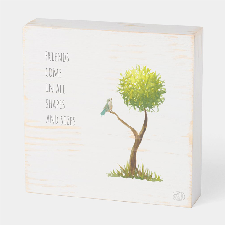 Wood box: Friendship (Scribble trees collection)