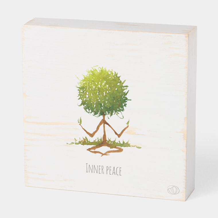 Wood box: Inner peace (Scribble trees collection)