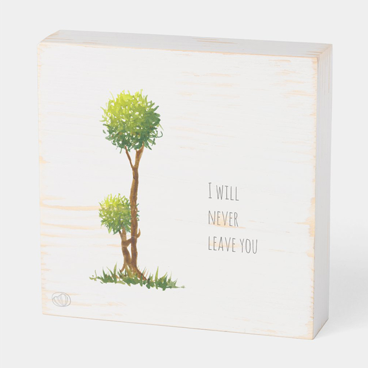 Wood box: I will never leave you (Scribble trees collection)