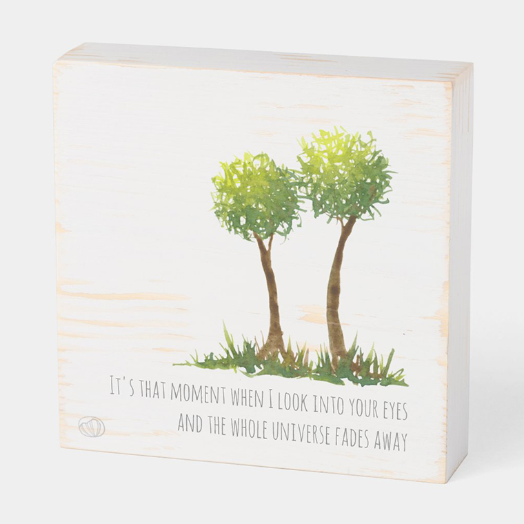 Wood box: In love (Scribble trees collection)