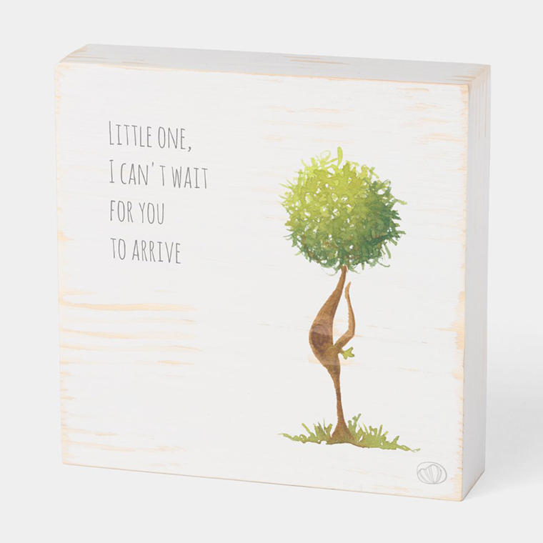Wood box: Expecting (Scribble trees collection)