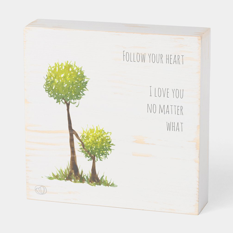 Wood box: Follow your heart (Scribble trees collection)