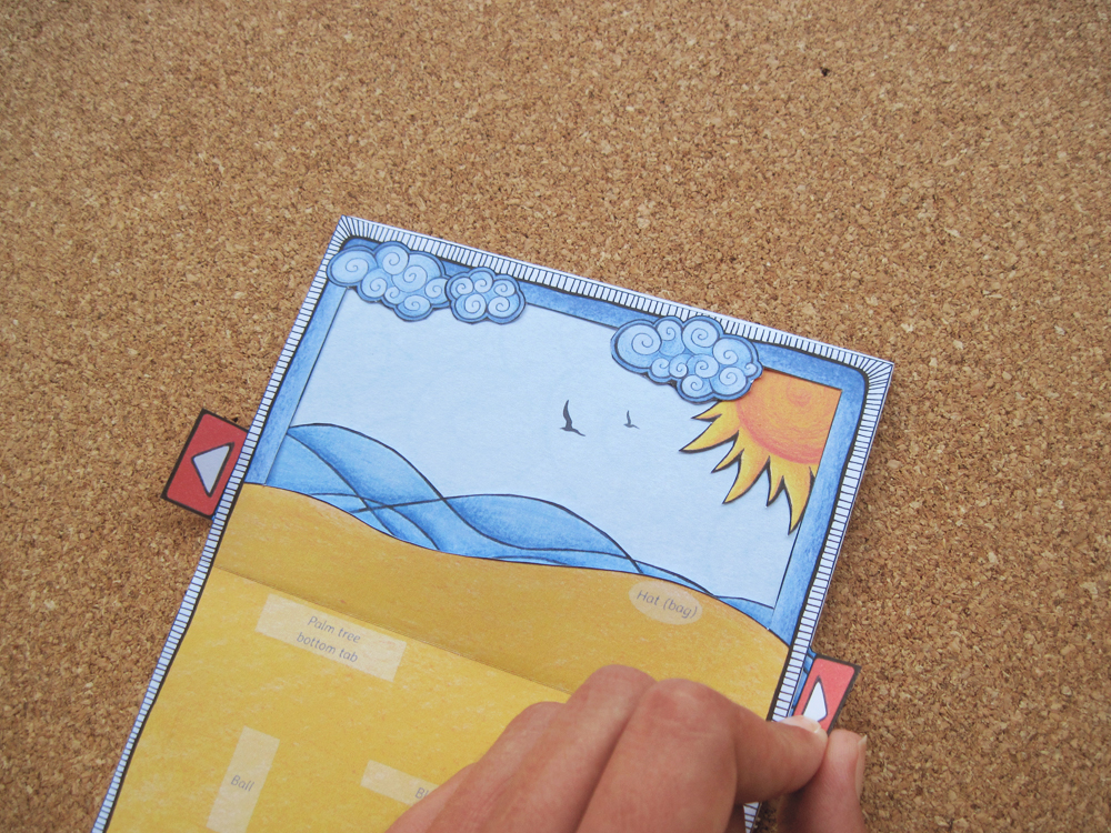 Day At The Beach pop-up card: Instructions 03/05