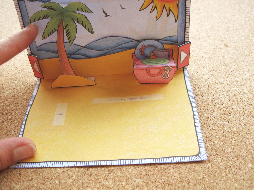 Day At The Beach pop-up card: Instructions 04/05