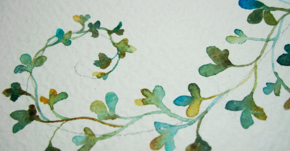 Clover Frenzy: Watercolors + tiny brush