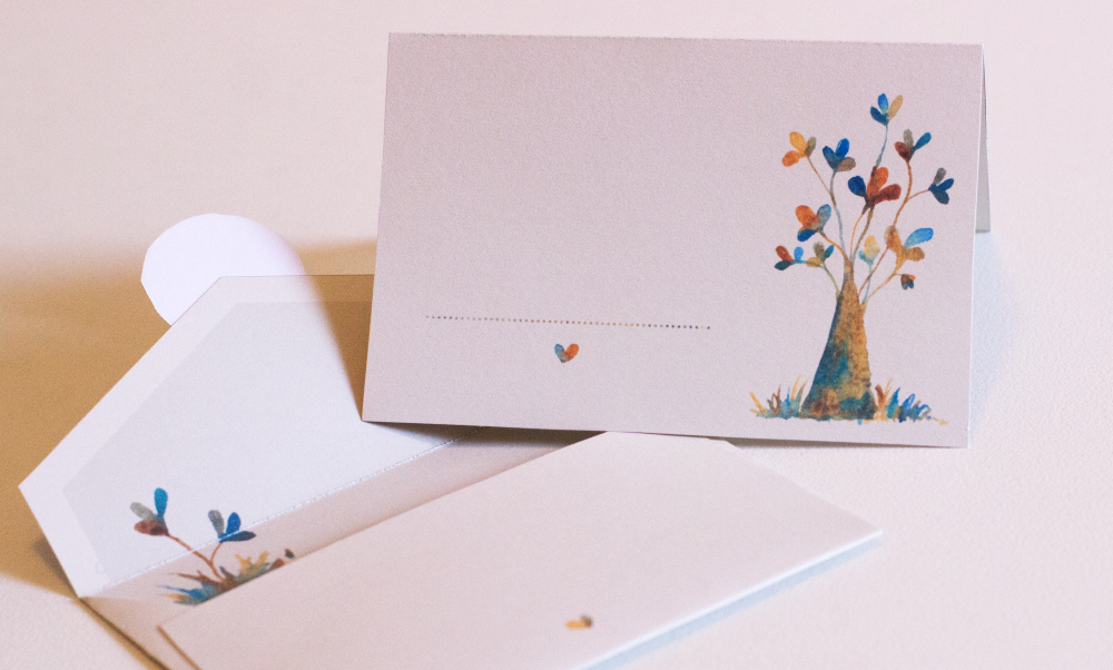 Clover Tree: Mini card and envelope set: Instructions & photos