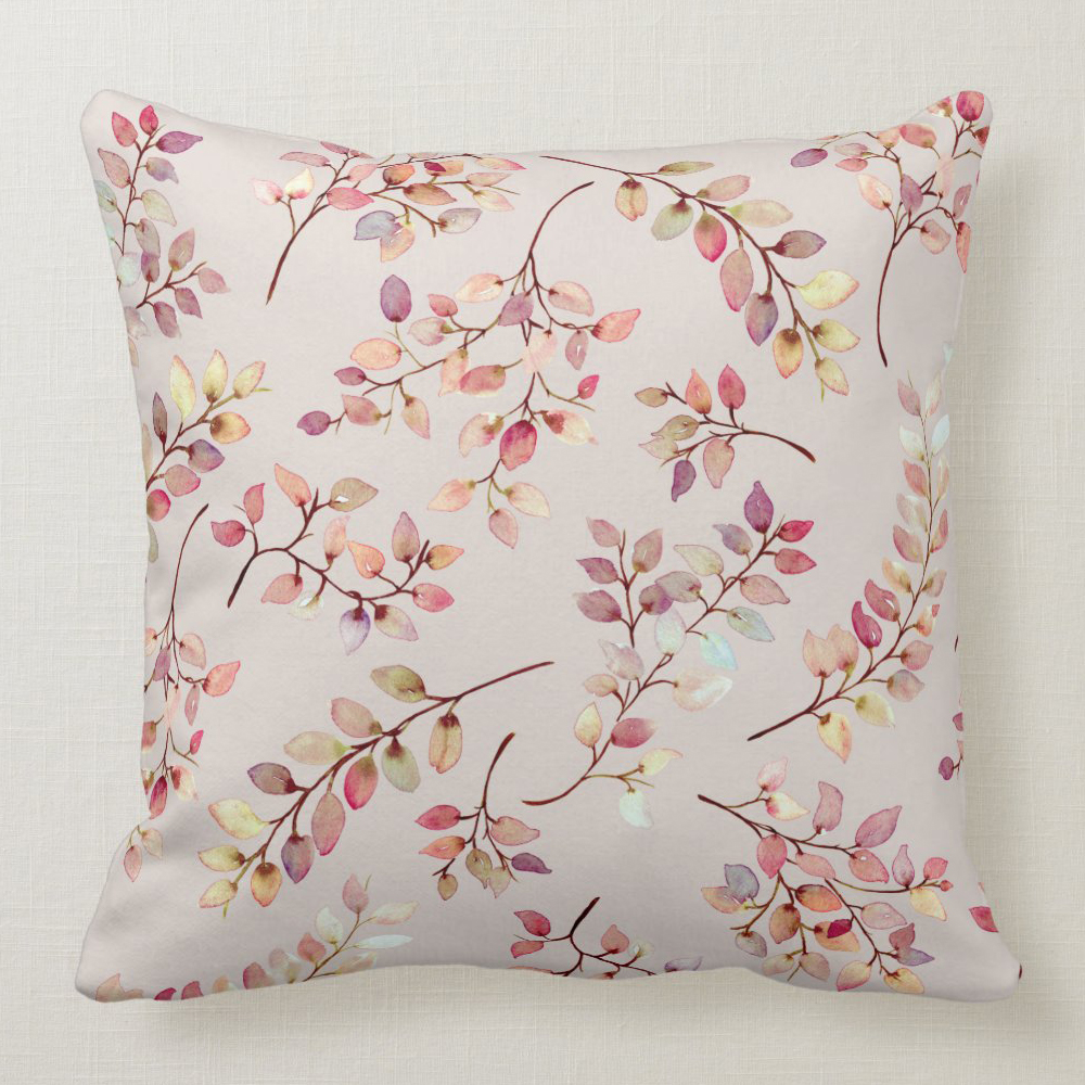 colorful leaves pillow front