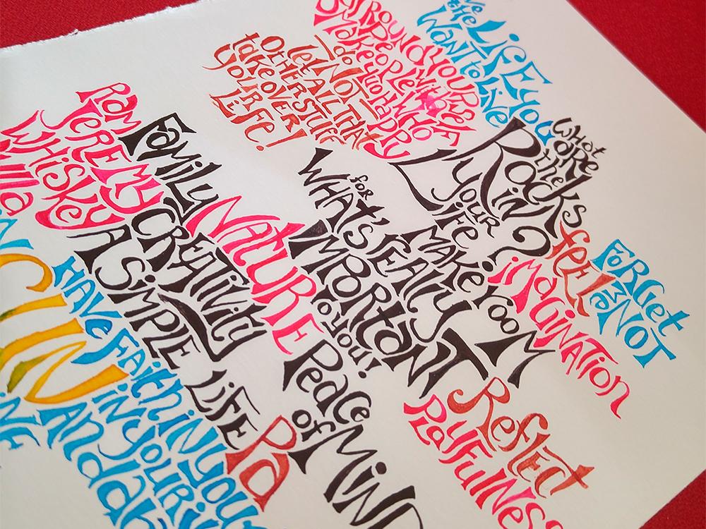positive typography