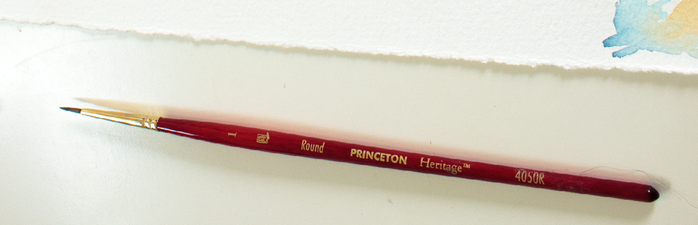 Princeton Heritage #1 round synthetic brush