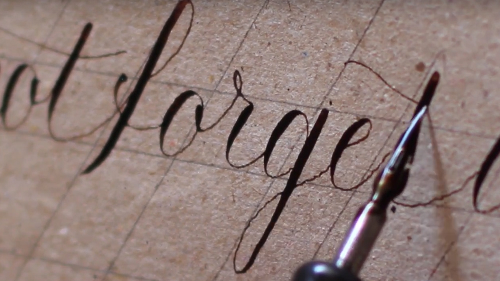 Learning Copperplate: Close Up Writing: Day #19