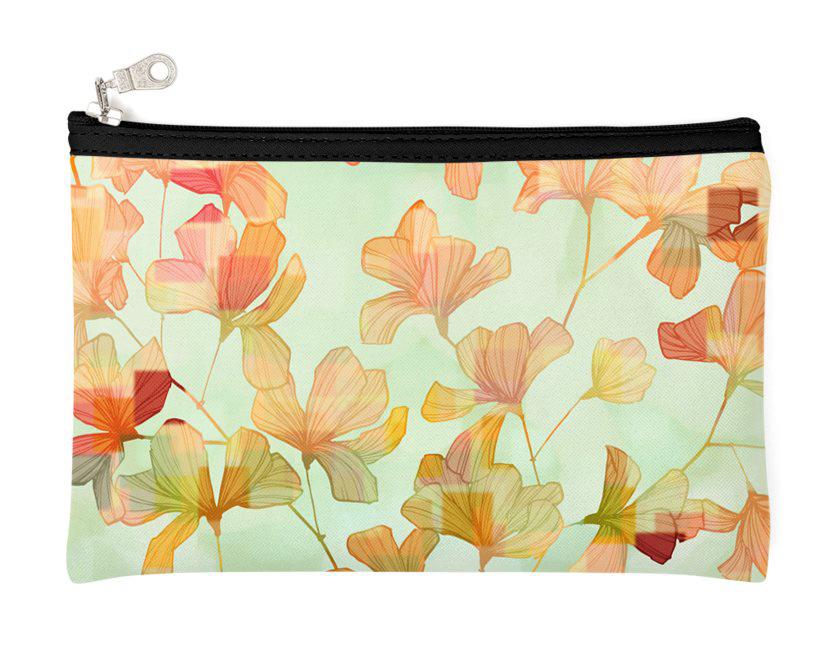 Pencil case: Autumn breeze leaves pattern